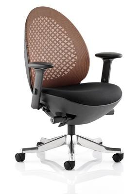 Ovum Designer Chair With Mandarin Mesh And Black Frame