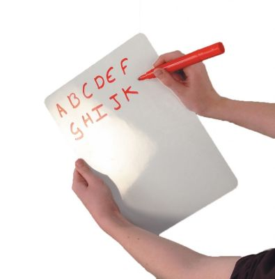 Hand Held Dry Wipe Whiteboard With Rounded Edges And Red Pen
