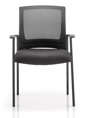 Carlton Mesh Back Conference Armchair Front View