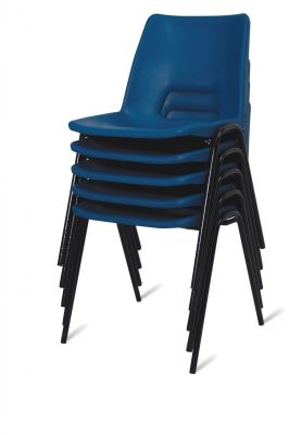 PP1 Blue Stacked Polypropylene School Chairs