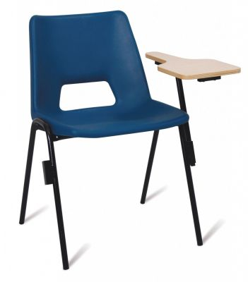 Pp1 Blue Poly Chair With A Writing Tablet