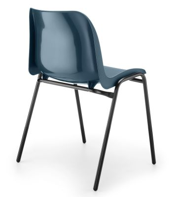 Eco Poly Chair Blue Rear View