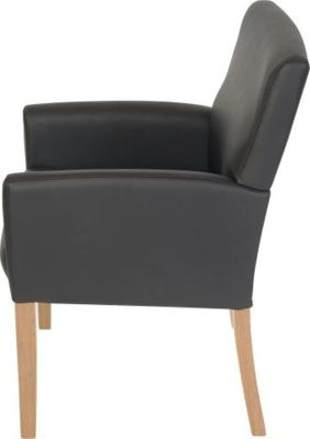 Weston Black Leather Seating Side View