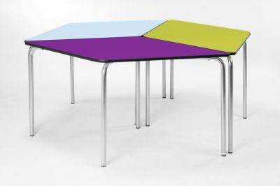 Diamond Modular Calssroom Table In A Configuration Of Three