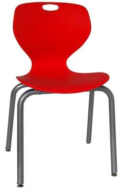 Sky Heavy Duty Poly Chair Red Shell