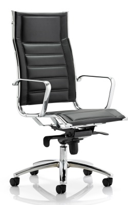 Zintex Black Leather Designer Chair