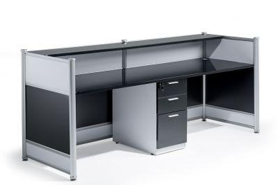 Nexusnhigh Gloss Black Reception Desk Rear