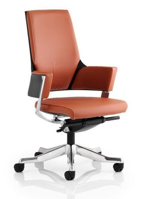 Starlight Tan Leather Executive Chair