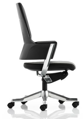 Starlight Black Leather Executive Chair Side View