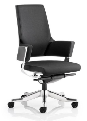 Satrlight Executive Chair Black Fabric Front Angle Shot