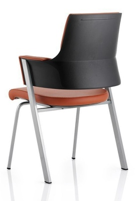 Starlight Tan Leather Conference Chair Rear View