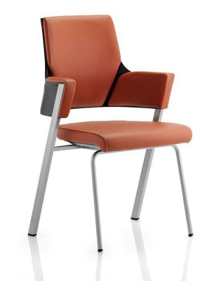 Starlight Tan Leather Visito Chair Fronnt Angle Shot