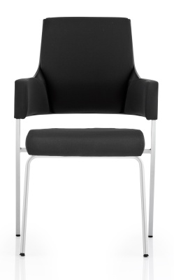 Starlight Black Fabric Conference Chair Front View