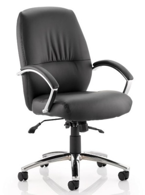 Oasis Black Leather Executive Chair