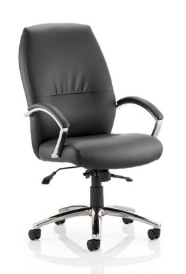 Oasis High Back Black Leather Executive Chair