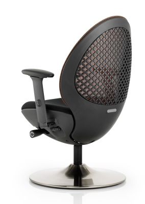 Ovus Mesh Chair With A Circular Base Rear View