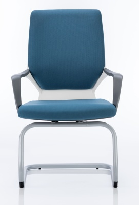 Carbon Blue Fabric Visitor Chair Front View