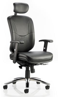 Elise Black Leather Task Chair