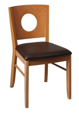 Polo Wooden Dining Chairs With An Oak Frame And Brown Faux Leather Seat
