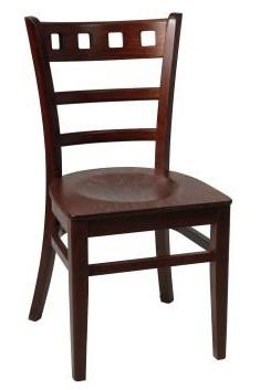 Alphine Dining Chair Walnut Finish