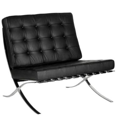 Barcelona Black Leather Single Seater