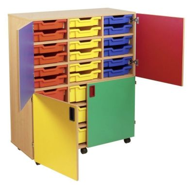 Smartie 36 Mobile Classroom Cupboard With 36 Shallow Trays