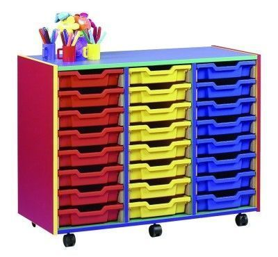 Colour My World Multi Coloured Multi Coloured 24 Shallow Drawer Unit In Situ