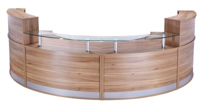 PB Deluxe Reception Desk Americal Walnut Finish