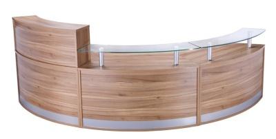 PB Deluxe Reception Desk 8 Shown In American Black Walnut