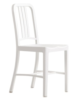 Navy Chair In White