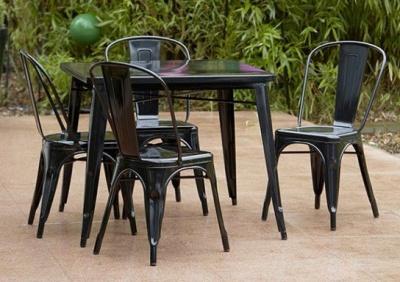 Tollix Black Outdoor Dining Set