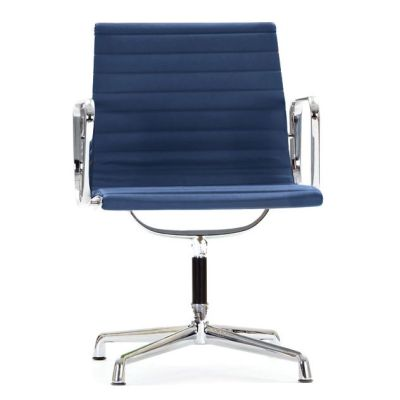 Aria Designer Conference Chair Blue Leather
