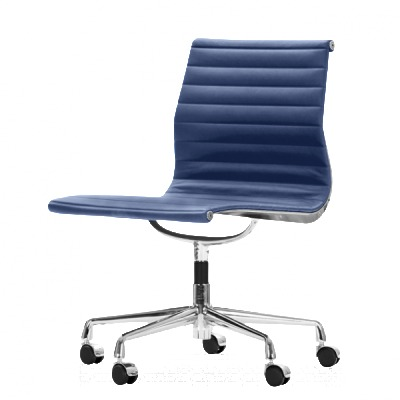 Aria Swivel Chair Blue Leather