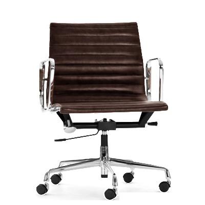 Aria Designer Swivel Chair Black Leather