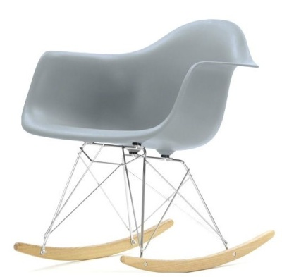 Eames RAR Rocking Chair With A Mid Grey Seat And Ash Base