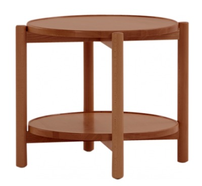 Quad Side Table Walnut
