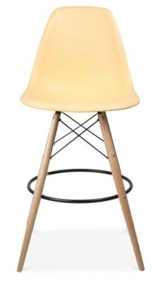 Eames Style High Stool Lemon Seat