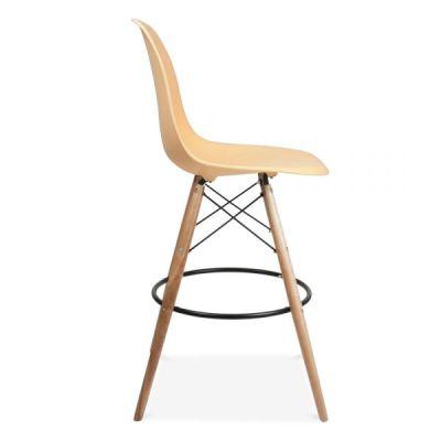 Eames Style Dsw High Stool Lemon Seat Side Vieew