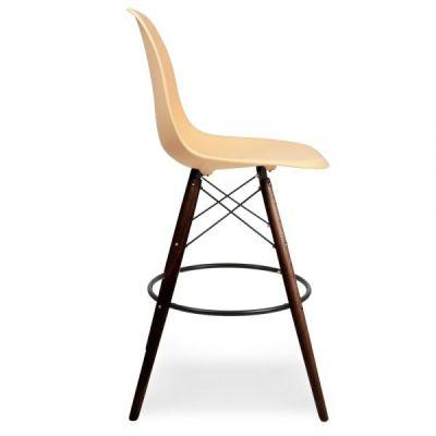Eames DSW High Stool Peah Seat Walnut Legs Side View