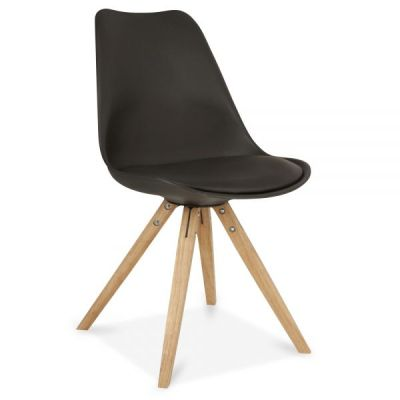 Pyramid Style Chair With A Black Seat Front Angle Viewn
