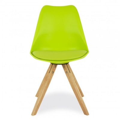 Pyramid Style Chair With A Lime Green Seat Front Shot