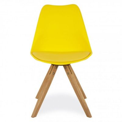 Pyuamid Chair With A Yellow Seat Front View