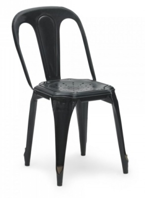 Les Meubles Vintage Chair In Black Front Angle