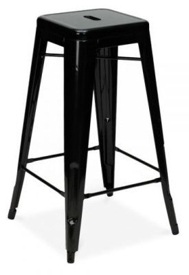 Xavier High Stool In Black 2