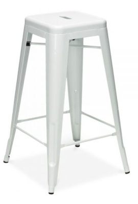 Xavier High Stool In White