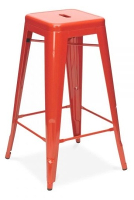 Xavier Pauchard 650mm High Stool In Red 2