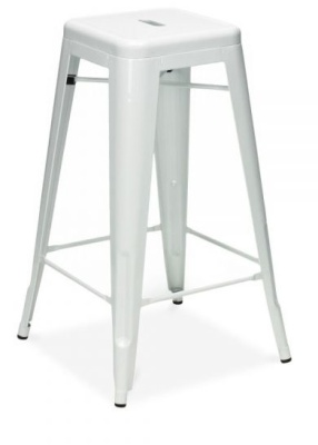 Xavier Pauchard White Worktop Height Stool