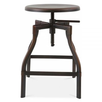Industrial Turner High Stool In An Antque Rust Finish
