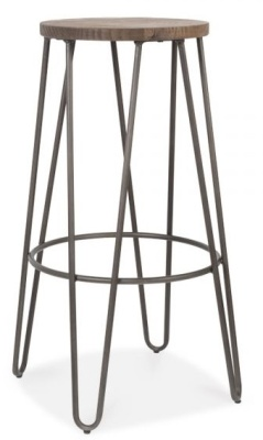 Hairpin Stool With A Black Frame 2