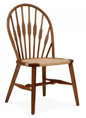 Peacock Chair Walnut Front Angle